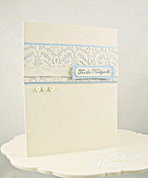 Faux Letterpress Wedding Card