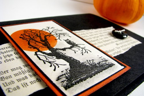 Halloween Card with old gothic text