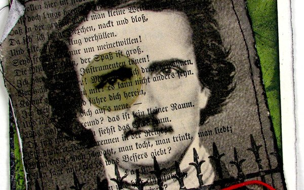 Edgar Allen Poe Postcard Collage