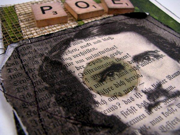 Edgar Allen Poe Postcard Collage