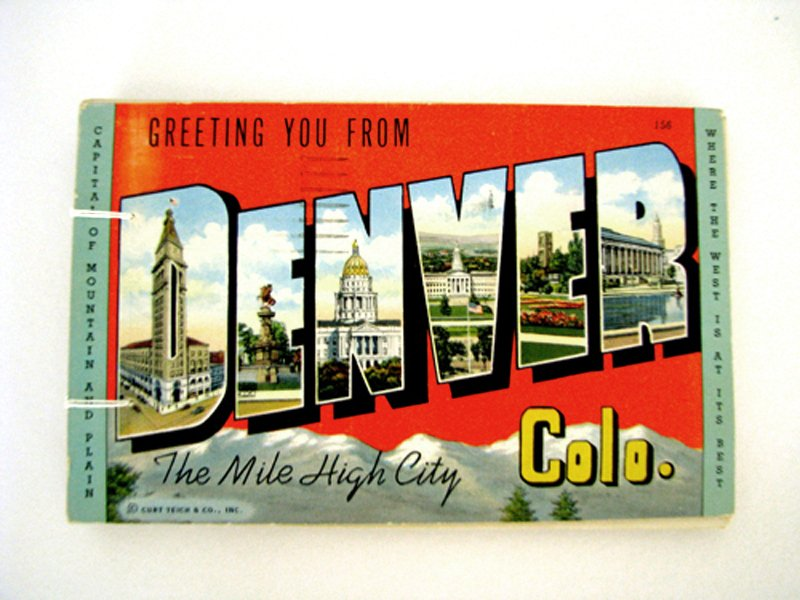 vintage postcard handmade journal