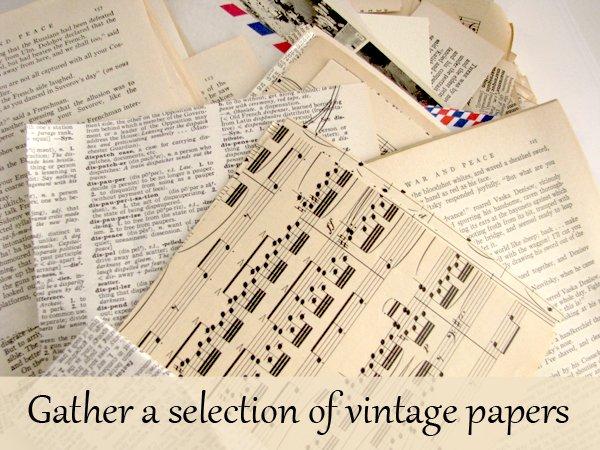 Wedding Favor Vintage Paper 2