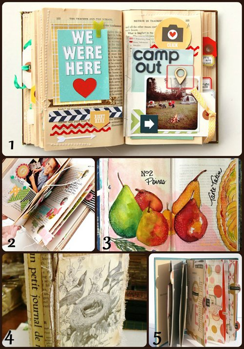 scrapbooking altered books