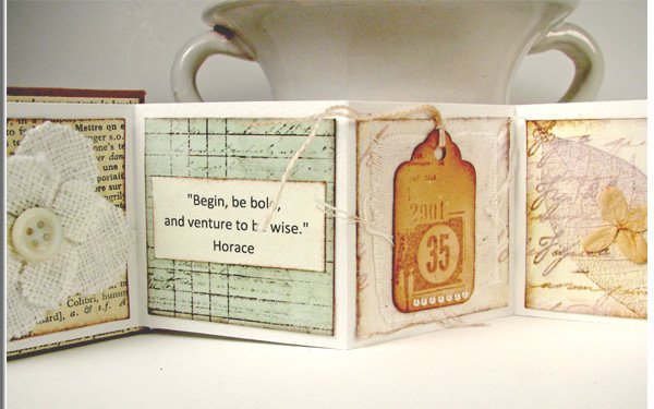 Upcycled art journal scraps