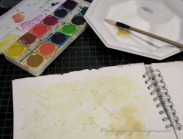 Art Journal Watercolor Background