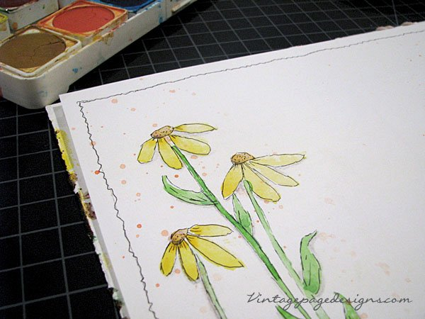 Watercolor Drop Flowers