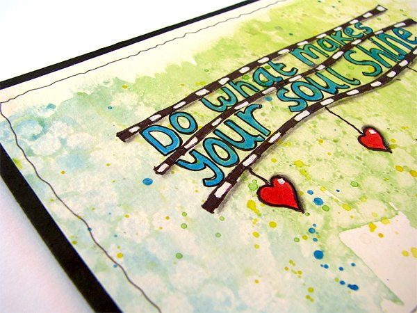 Mixed media watercolor quote card