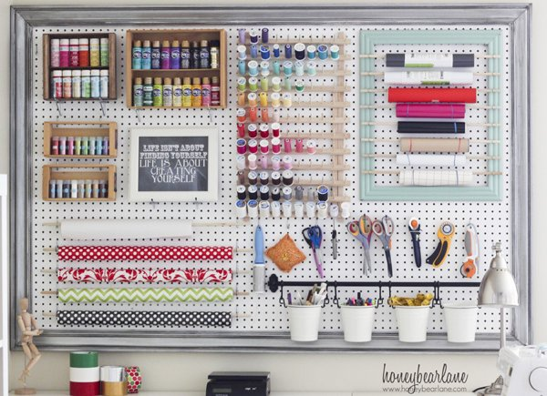Large Organized pegboard