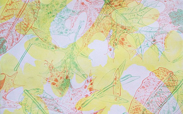 Yellow Oak Leaf Monoprint