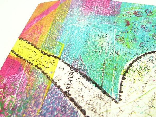 handmade journal with gelatin print