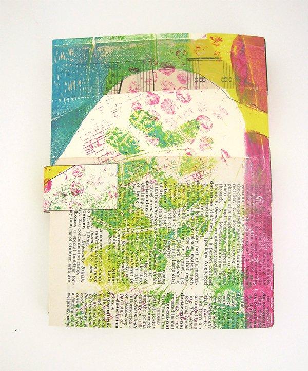 handmade made monoprint journal