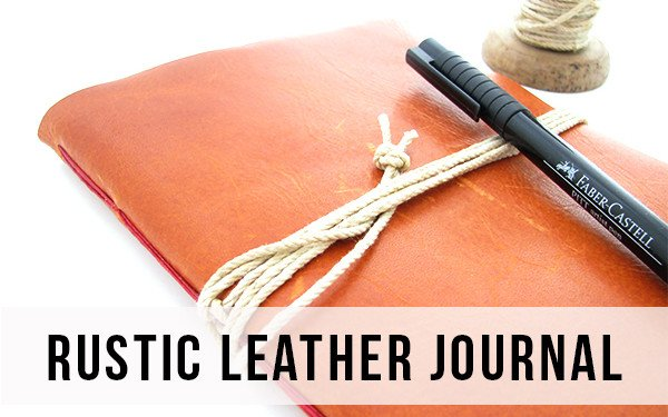 Rustic Leather Watercolor Journal
