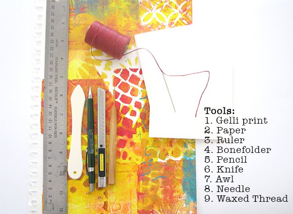 Gelli Print Notebook Tutorial