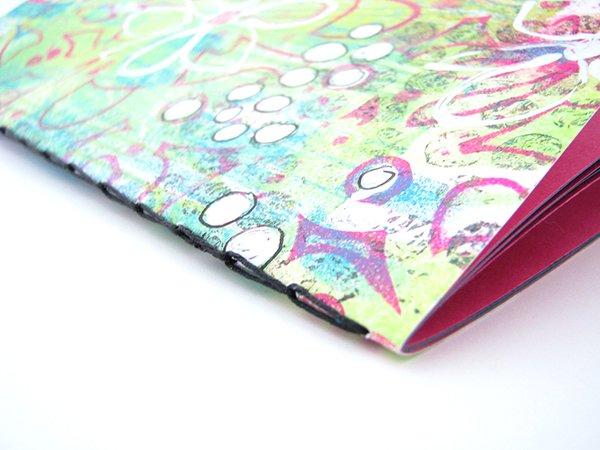 Chain Stitch Gelli Print Notebook