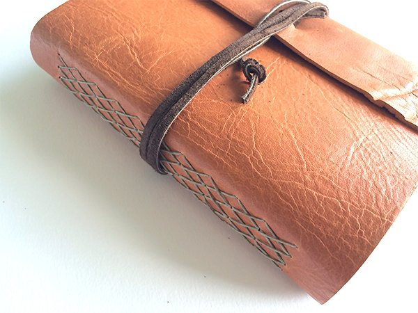 Cross Stitch Leather Journal