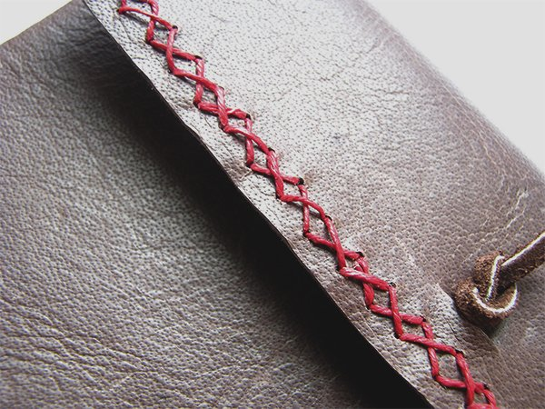 Leather Journal With Cross Stitch