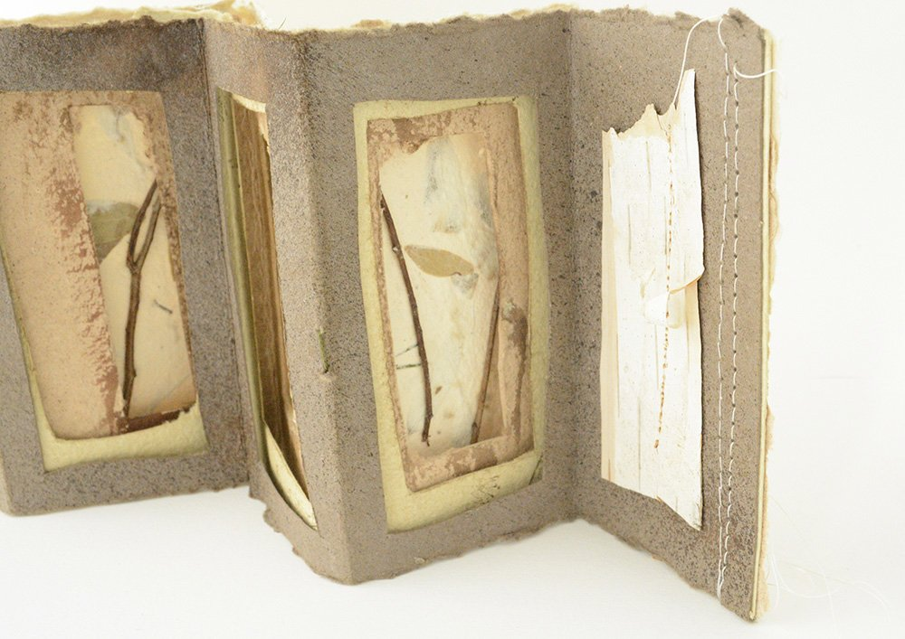 Star book with handmade paper