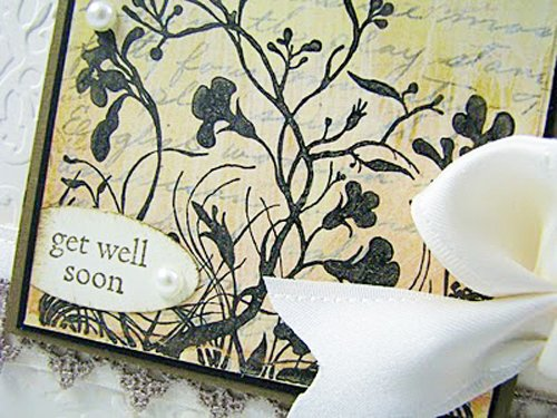 Rubber stamped get well card