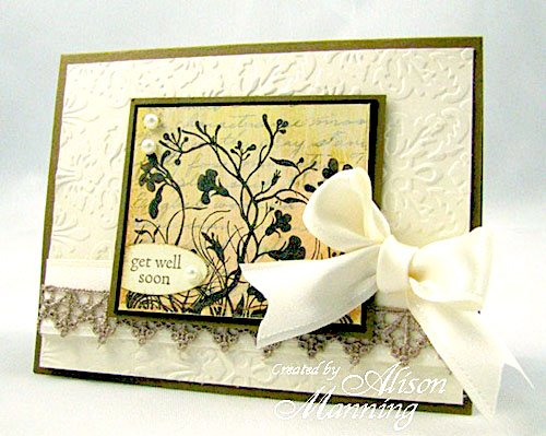 Get Well Card Rubber Stamps