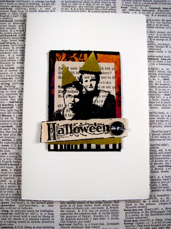Rubber Stamped Halloween Card