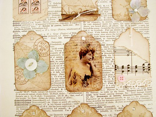Mixed Media Tag Collage