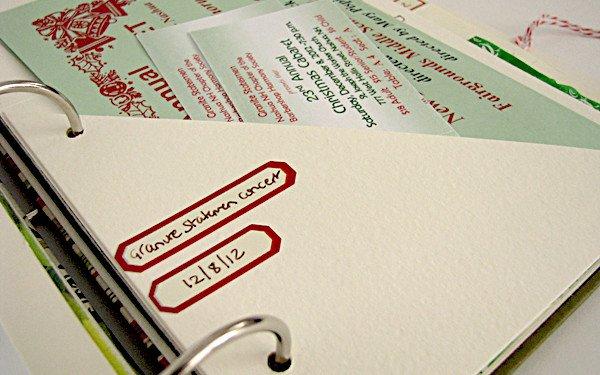 handmade christmas scrapbook