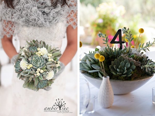 Winter Wedding Idea Succulents