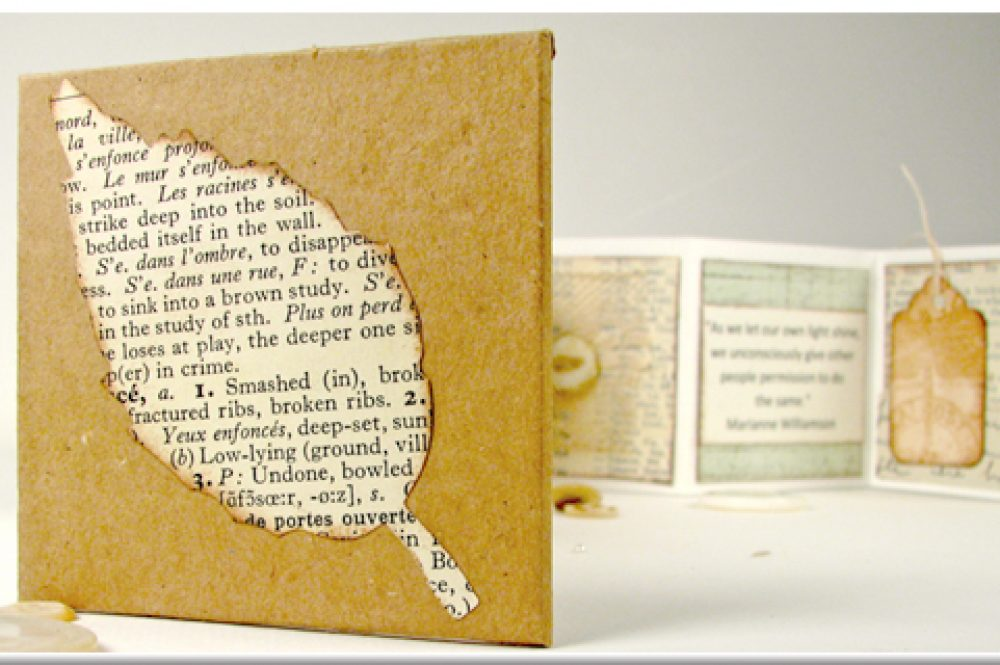 Upcycled minature art journal