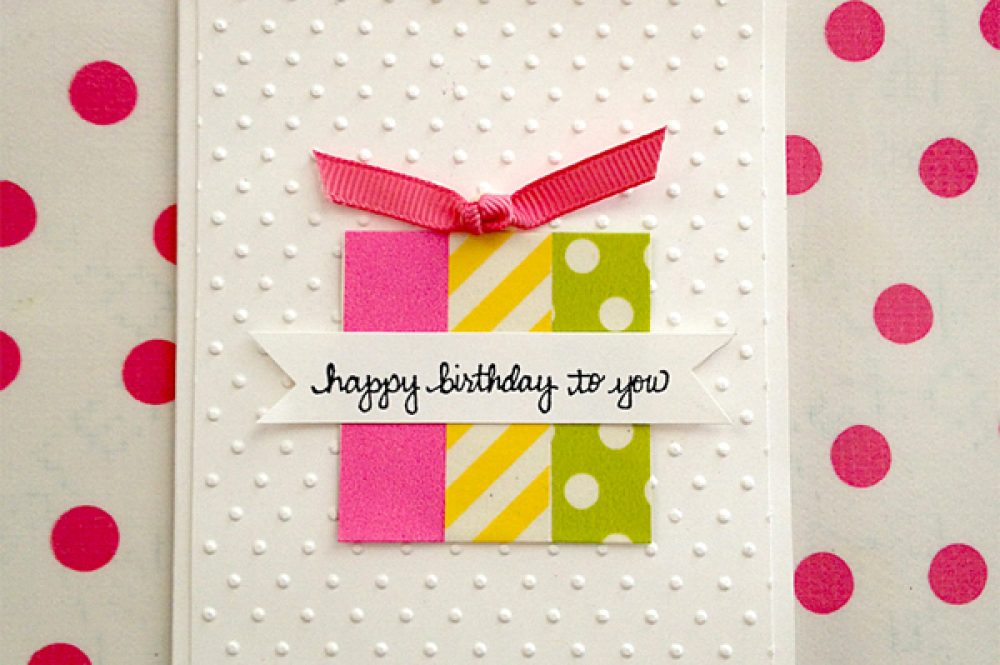 Washi Tape birthday card