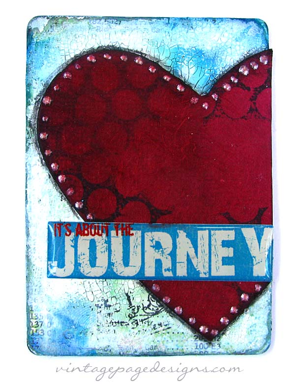 mixed splitcoaststampers challenge media alterned playing card