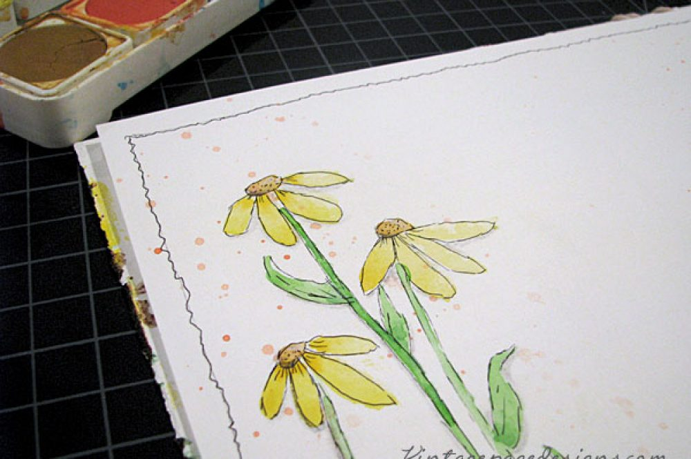 Watercolor Drop Flowers