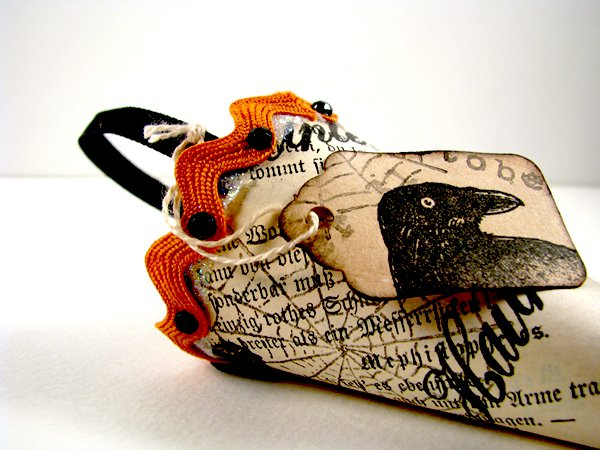 Halloween Party Favor Using Vintage Book Pages