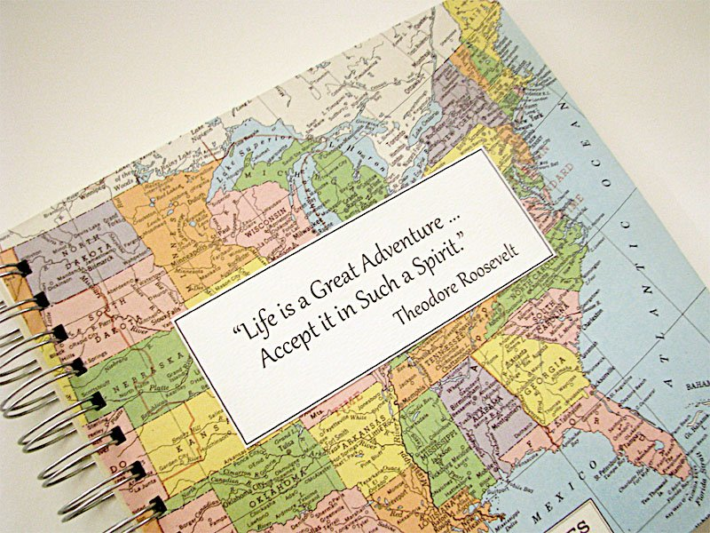 Travel Journal Photo Album USA