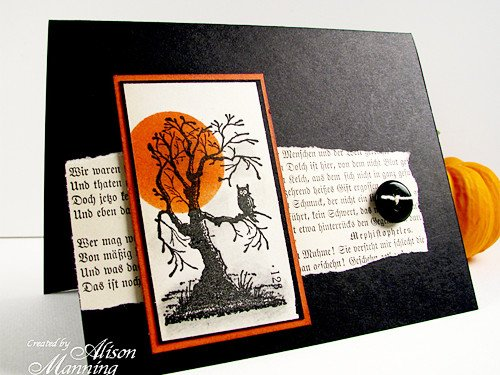 Halloween Card with vintage book
