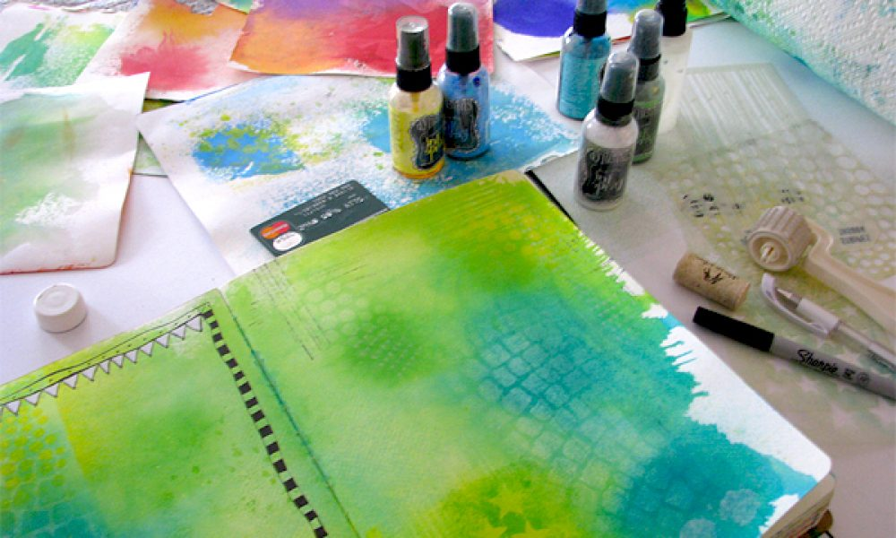 Dyan Reavely art journal page class