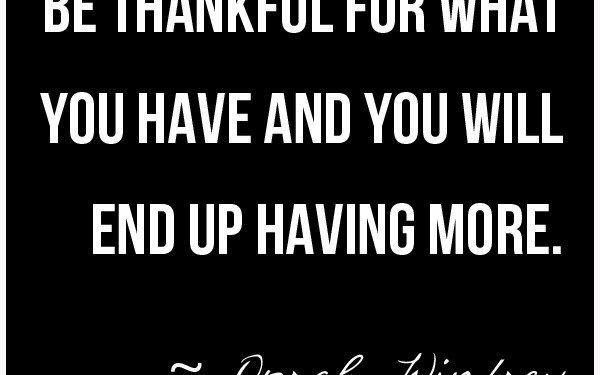 Oprah Winfrey Gratitude Quote