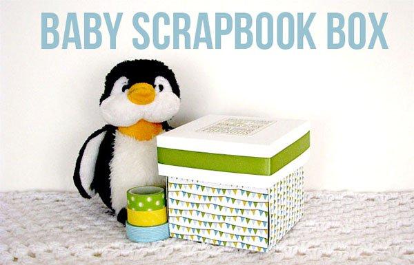 Baby Scrapbook Box tutorial