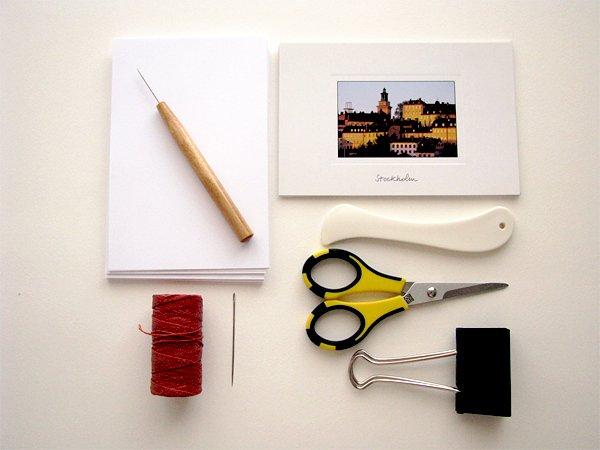 Stab Binding Postcard Journal Supplies