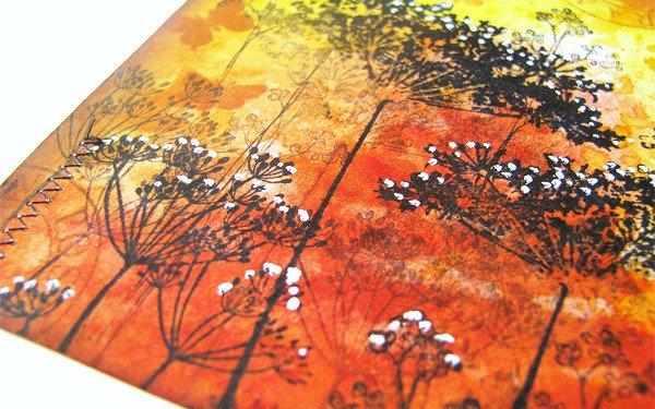 Enjoy Life Orange Mixed Media Tag