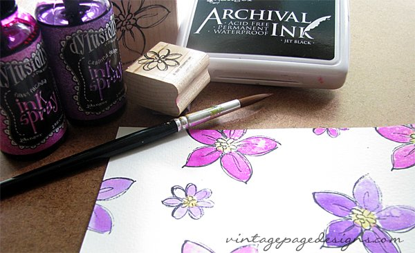 Dylusions and watercolored stamped images