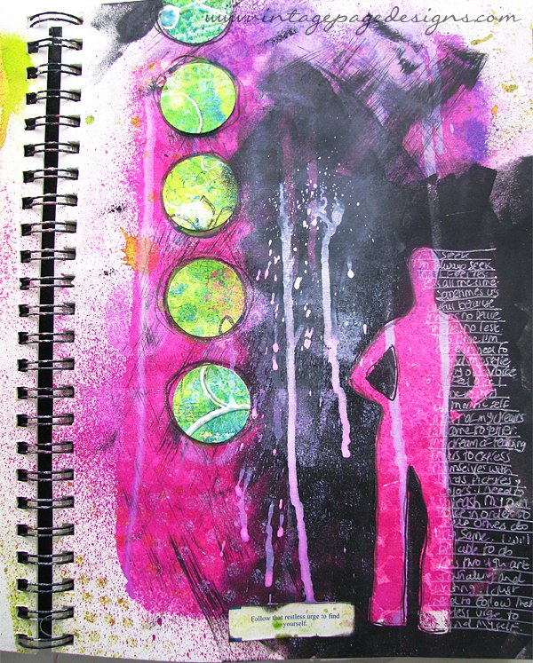 Fortune Cookie Art Journal Page 6
