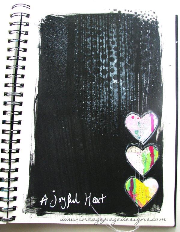 Joyful Heart Art Journal Page 4