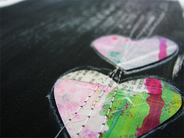 Joyful Heart Art Journal Page