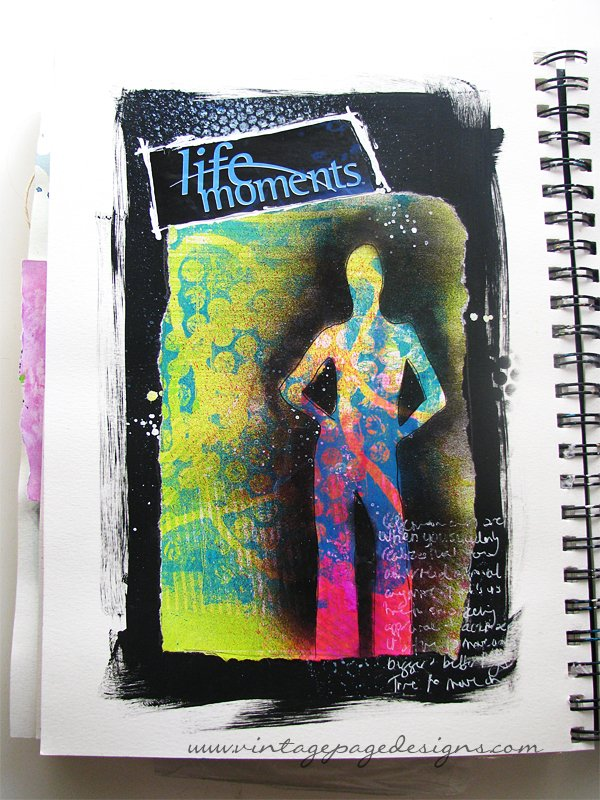 Life Moments Art Journal Page 1