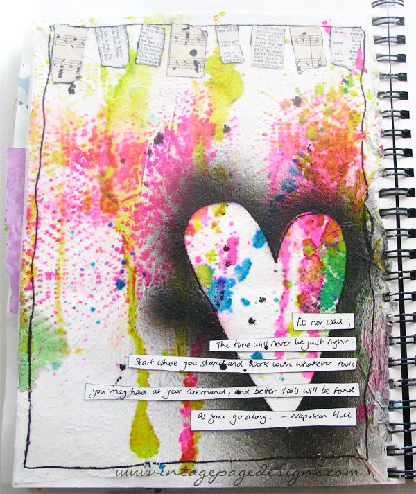 Papertowel Background Art Journal Page 1