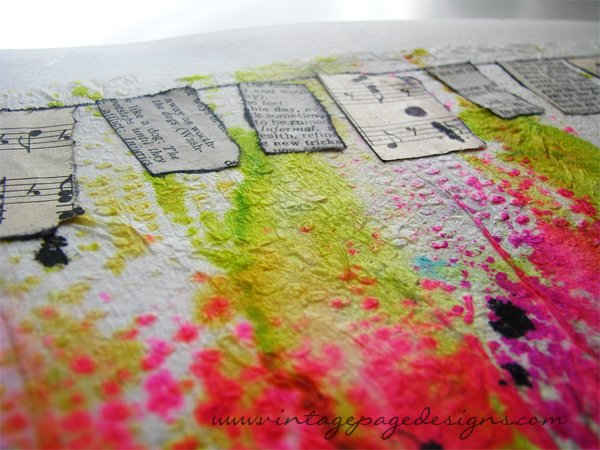 Papertowel Background Art Journal Page 2