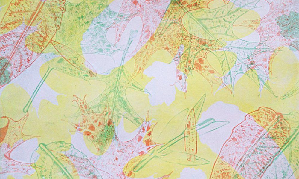 Yellow Oak Leaf Monoprint
