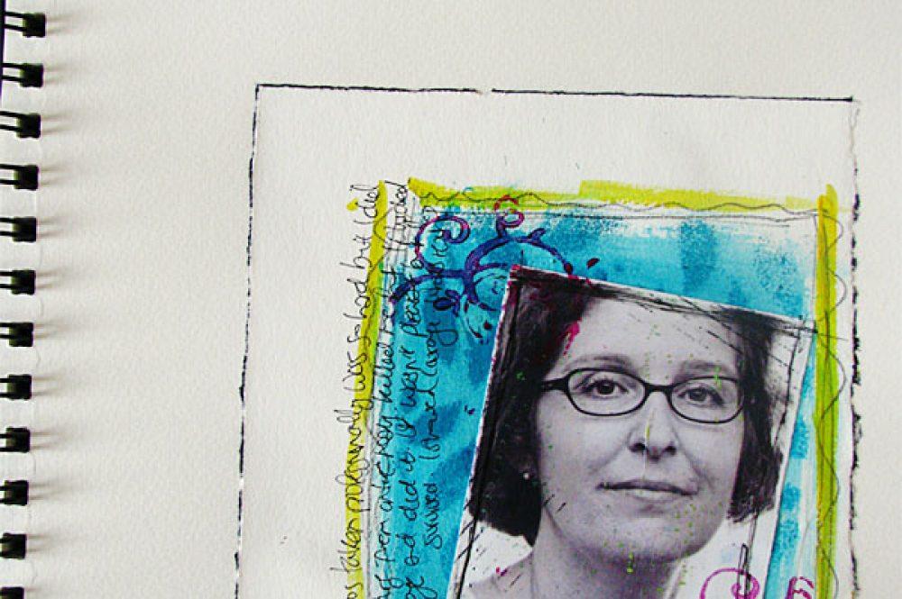 Portrait Art Journal Page 1