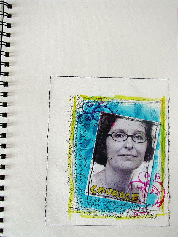 Portrait Art Journal Page 1