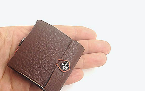 Miniature Leather Tacketed Journal 5